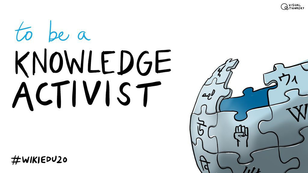 """Drawing """"To be a Knowladge Activist"""" by Bryan Mathers @BryanMMathers"""